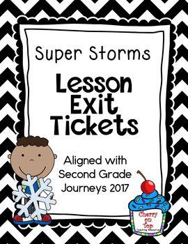 Journeys-Super Storms Exit Tickets