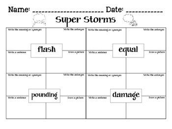 Journey's Super Storms: Unit 2.3 Lesson 8 Spelling & Vocabulary Activities