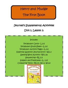 Henry and Mudge   Journey's Supplemental Activities--Second Grade