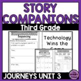 Journeys THIRD Grade Story Companions: Unit THREE