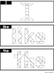 Tangram Sight Words (Compatible With Journeys Kindergarten Units 1-6)