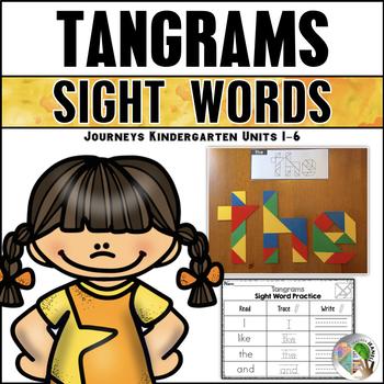 Tangram Sight Words (Journeys Kindergarten Units 1-6 Sight Words Supplement)