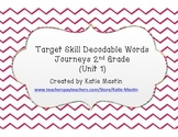 Journeys Target Skill Decodable Word Cards