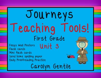 Journeys Teacher Tools Bundle Unit 3 First Grade
