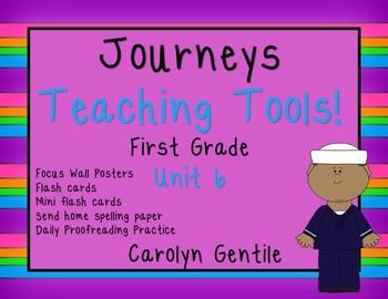 Journeys Teacher Tools  Bundle Unit 6 First Grade