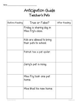 Journeys: Teacher's Pets (Unit 1, Lesson 5)