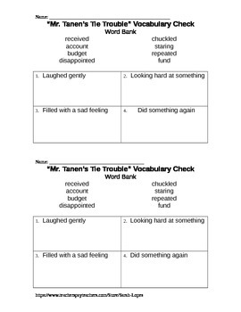 Journeys Texas 2nd Grade Unit 4 Vocabulary Checks Bundle