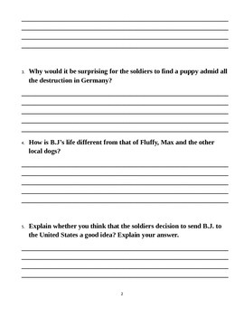 "Journey's ""The Dog Newspaper"" Comprehension & Vocabulary Worksheet"
