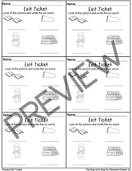 Journeys- The Dog Who Dug for Dinosaurs Exit Tickets