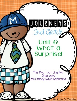 Journeys The Dog that Dug for Dinosaurs Grade 2 {Editable}