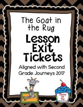 Journeys-The Goat in the Rug Exit Tickets