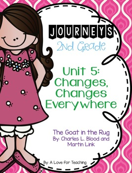 Journeys The Goat in the Rug Grade 2 {Editable}