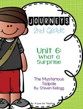 Journeys The Mysterious Tadpole Grade 2 {Editable}