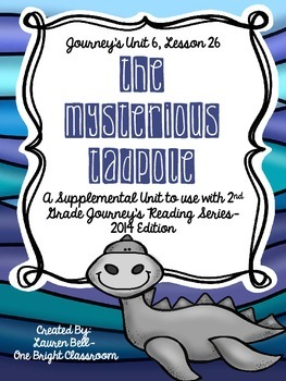 Journeys- The Mysterious Tadpole Supplemental Unit {Unit 6