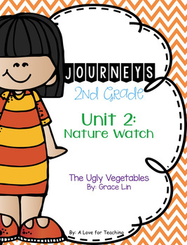 Journeys The Ugly Vegetables Grade 2 {Editable}