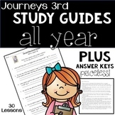 Journeys Third Grade Comprehension BUNDLE All Units