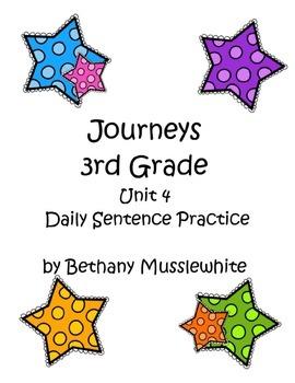Journeys Third Grade Daily Sentences Unit 4