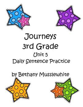 Journeys Third Grade Daily Sentences Unit 5