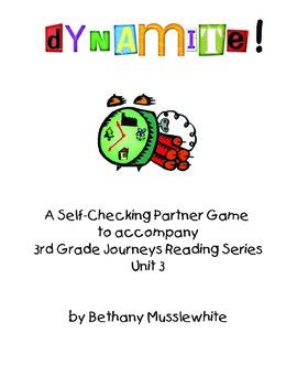 Journeys Third Grade Dynamite! Vocabulary Unit 3