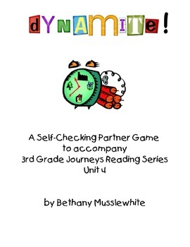 Journeys Third Grade Dynamite! Vocabulary Unit 4