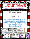 Journeys Third Grade Focus Wall for Unit 3