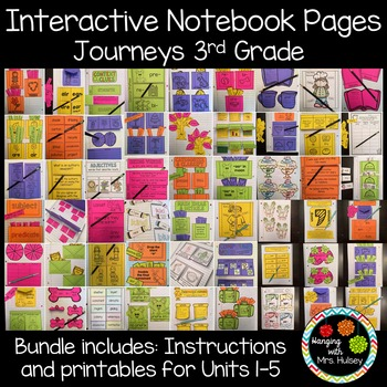 Journeys Third Grade: Interactive Notebook Pages (Units 1-5)