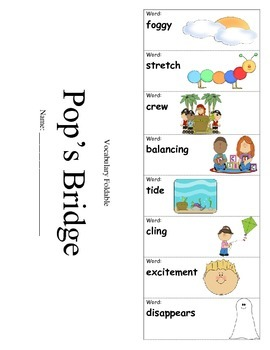 Journeys Third Grade Lesson 4 Vocabulary Foldable; Pop's Bridge