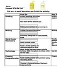 Journeys Third Grade Lesson 8 Center Checklist