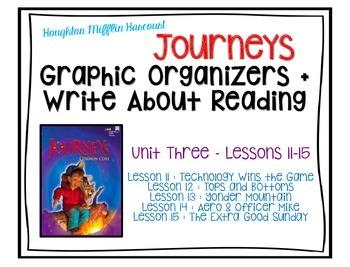 Journeys - Third Grade - Lessons 11-15 Graphic Organizers