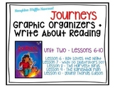 Journeys - Third Grade - Lessons 6-10 Graphic Organizers +