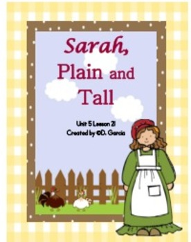 Journeys Third Grade Sarah Plain and Tall