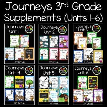 Journeys Third Grade Supplemental Materials (Units 1-6)
