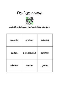 Journeys Third Grade Tic Tac Know! Vocabulary Unit 4