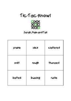 Journeys Third Grade Tic Tac Know! Vocabulary Unit 5