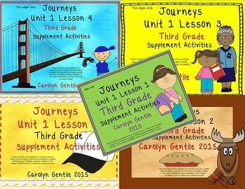 Journeys Third Grade Unit 1 Bundle 2012, 2014, 2017