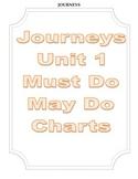 Journeys Third Grade Unit 1 Must Do-May Do Charts