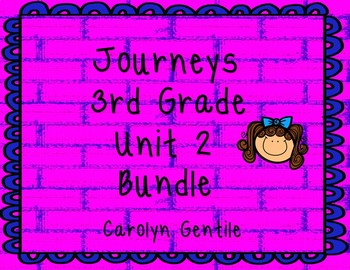 Journeys Third Grade Unit 2 Bundle 2012  Version
