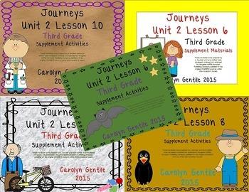 Journeys Third Grade Unit 2  Bundle 2014/2017  Version