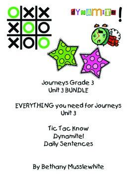 Journeys Third Grade Unit 3 BUNDLE