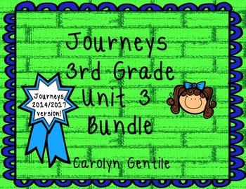 Journeys Third Grade Unit 3 Bundle 2014 Version