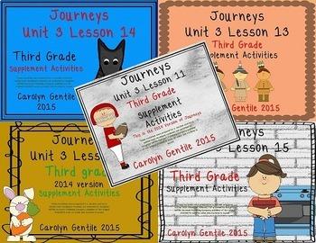 Journeys Third Grade Unit 3 Bundle 2014/2017 Version