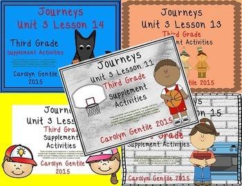 Journeys Third Grade Unit 3 Bundle 2012 Version