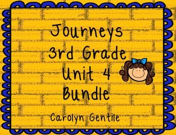 Journeys Third Grade Unit 4 Bundle 2012 Version