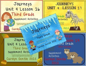 Journeys Third Grade Unit 4 Bundle 2014/2017 Version