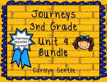 Journeys Third Grade Unit 4 Bundle 2014 Version