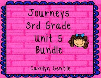 Journeys Third Grade Unit 5 Bundle 2012 Version