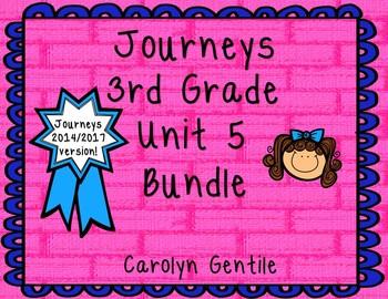 Journeys Third Grade Unit 5 Bundle 2014/2017 Version