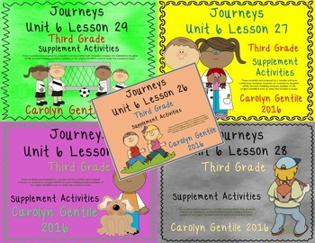 Journeys Third Grade Unit 6 Bundle