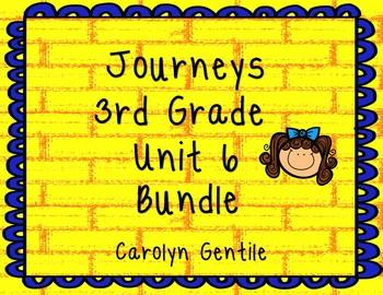 Journeys Third Grade Unit 6 Bundle 2012,2014, 2017