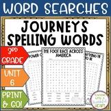 Journeys 3rd Grade: Unit 6 Spelling Words Activity
